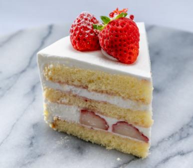 夏いちごのショートケーキ